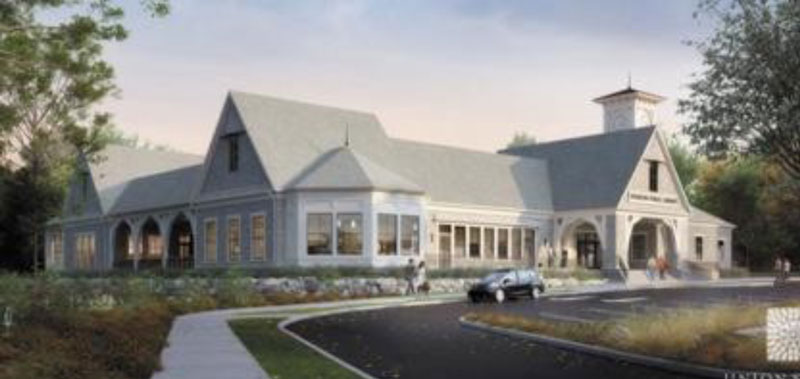 The original architect rendering of the new library