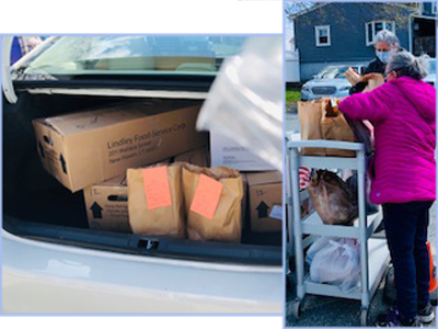 Cares COVID-19 deliveries for the Senior Center